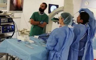 Desarrollo práctica cirugia columna endoscópica